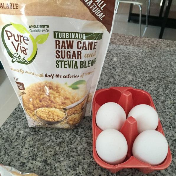 Edulcorante y Huevos